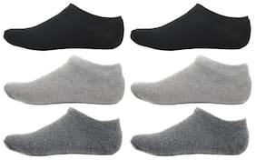 HashBean Men's No Show Low Cut Loafer socks (2 Black, 2 Silver, 2 Grey)