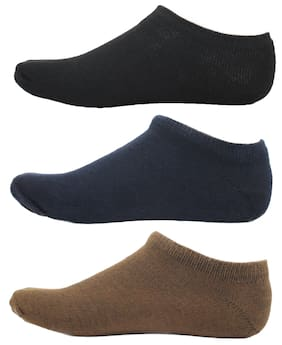 HashBean Men's No Show Low Cut Loafer socks (1 Black, 1 Navy, 1 Brown)
