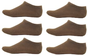 HashBean Men's No Show Low Cut Loafer socks (6 Brown)