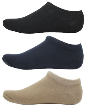 HashBean Men's No Show Low Cut Loafer socks (1 Black, 1 Navy, 1 Beige)