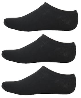 HashBean Men's No Show Low Cut Loafer socks (3 Black)