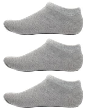 HashBean Men's No Show Low Cut Loafer socks (3 Silver)