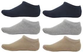 HashBean Men's No Show Low Cut Loafer socks (2 Navy, 2 Silver, 2 Beige)
