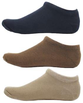 HashBean Men's No Show Low Cut Loafer socks (1 Navy, 1 Brown, 1 Beige)