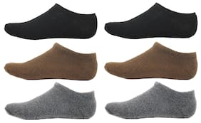 HashBean Men's No Show Low Cut Loafer socks (2 Black, 2 Brown, 2 Grey)