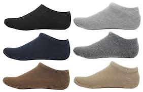 HashBean Men's No Show Low Cut Loafer socks (1 Black, 1 Navy, 1 Brown, 1 Silver, 1 Grey, 1 Beige)