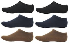 HashBean Men's No Show Low Cut Loafer socks (2 Black, 2 Navy, 2 Brown)