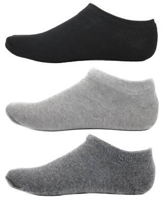 HASHBEAN Black Cotton No show socks ( Pack of 3 )