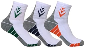 Supersox White Cotton Crew length socks ( Pack of 3 )