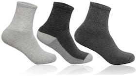 Supersox Multi Cotton Ankle length socks ( Pack of 3 )