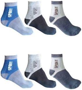 Men's  Printed Sports Ankle Length Socks  (Pack of 6)