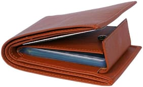 Men's Tan Artificial leather wallet