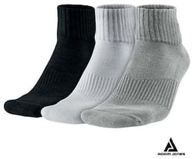 Men's Towel Mid Length Sports Socks - 3 Pair Pack by Adam Jones