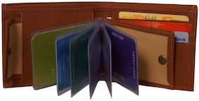 FRIENDS & COMPANY Men Brown Leather Bi-Fold Wallet ( Pack of 1 )