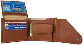 VINISHA ENTERPRISE Men Tan Pu Tri Fold Wallet ( Pack of 1 )