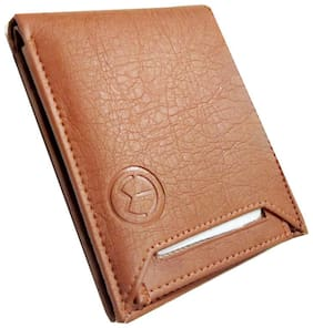 Men Tan  Slide Artificial Leather Wallet  (3 Card Slots)'''