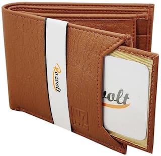 ROZVOLT Men Tan Synthetic Leather Bi-Fold Wallet
