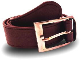 Mens Faux Leather Belt (Cherry)