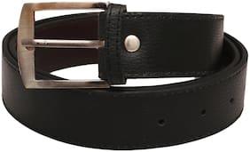 Mens Faux Leather Belt (Black)