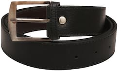 Mens Faux Leather Belt (Black)
