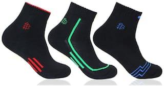 Bonjour Black Ankle length socks ( Pack of 3 )