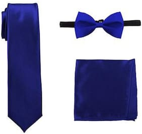 Mens Bow Ties, Pocket Squares and Necktie  for Party, Style, fashion Blue color