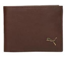 Puma Men Leather Bi-fold Wallet - Brown