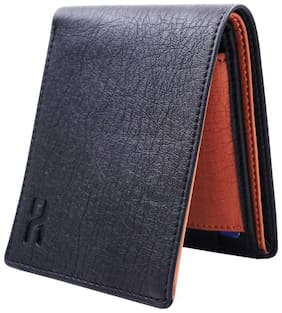 mix color pure leather wallet ( mix black &tan straight -1)