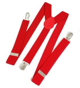 Mobidezire Unisex ,Adult ,Adjustable strech Y-back Suspender Red pack-1