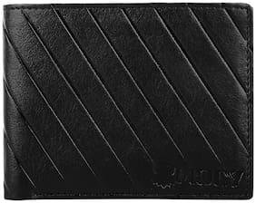 Mocy Men Black Pu Bi-Fold Wallet ( Pack of 1 )
