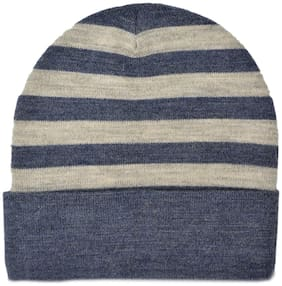 MODEL 100% Pure Wool Regular Fit Knitted Winter Warm Premium Fisher Cap