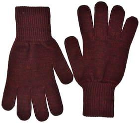 Model Men Wool Glove - Maroon