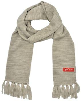 Model Unisex Wool Muffler - Silver