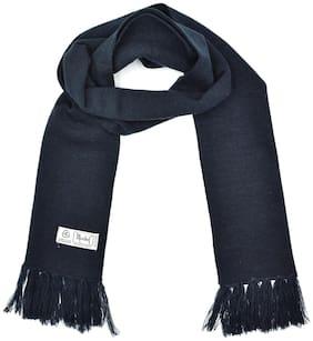 Model Unisex Wool Muffler - Navy blue
