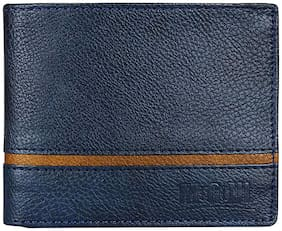 Mogoul Men Blue Leather Long Wallet ( Pack of 1 )