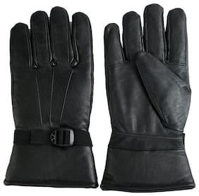 Moiety Men Leather Glove - Black
