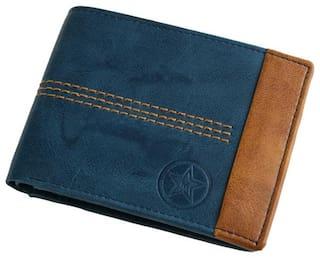 Moiety Men Blue Pu Long Wallet ( Pack of 1 )