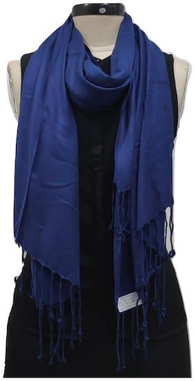 Monika Collection Women Viscose Stoles & Scarves - Blue