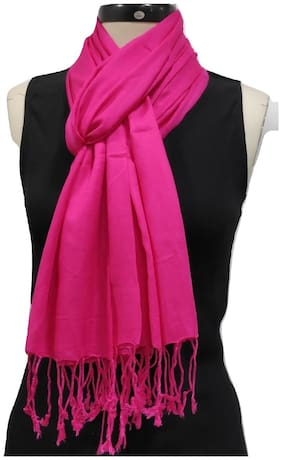 Monika Collection Women Viscose & Rayon Stoles & Scarves - Pink