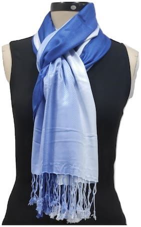Monika Collection Women Viscose Stoles & Scarves - Blue