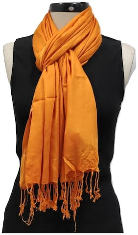 Monika Collection Women Viscose & Rayon Stoles & Scarves - Gold