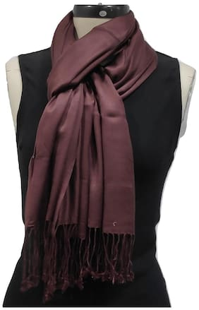 Monika Collection Women Viscose & Rayon Stoles & Scarves - Brown