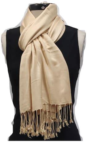 Monika Collection Women Viscose Stoles & Scarves - Beige