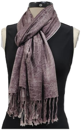 Monika Collection Women Viscose Stoles & Scarves - Brown