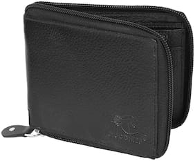 Moochief Men Black Leather Bi-Fold Wallet ( Pack of 1 )