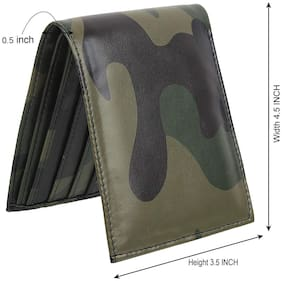 Moody Max-Army Style Bi-Fold Pu Leather Wallet For Men