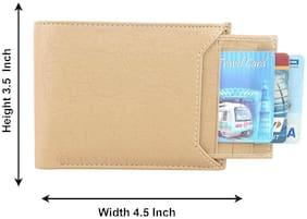 Moody Max-Men's Slider Beige Artificial Leather Wallet