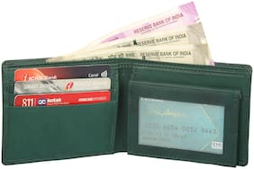 Moody Max - Men's Green Genuine Leather Wallet