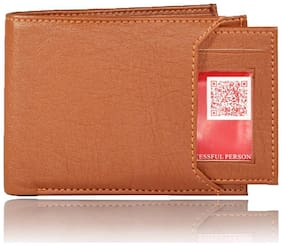 Moody Max - Men's Slider Tan Artificial Leather Wallet