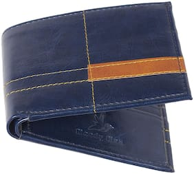 Moody Max Navy Blue Leatherette Wallet for Men's